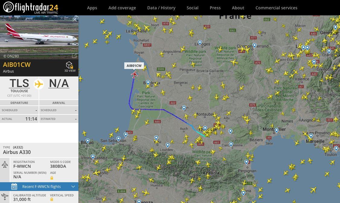 Premier vol de l'A330neo Air Mauritius