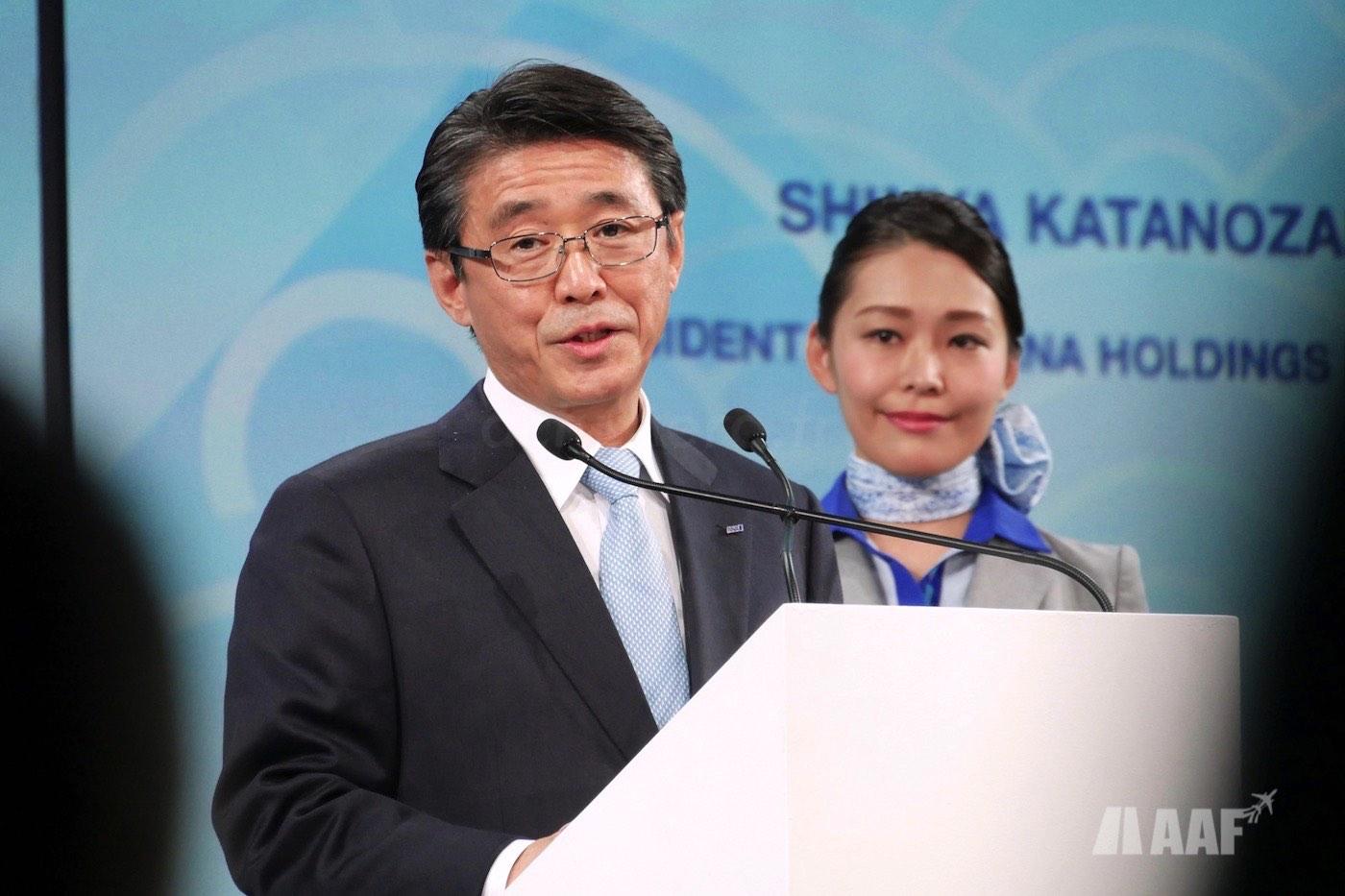 M. Shinya KATANOZAKA, le Président et CEO d'ANA