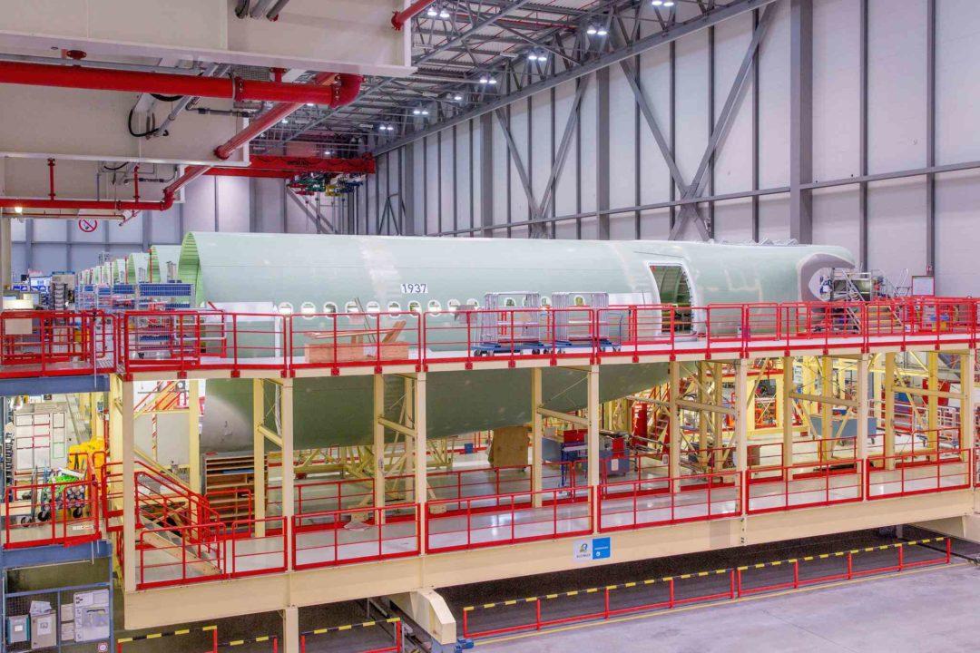 Tronçon arrière du fuselage en provenance de Hambourg