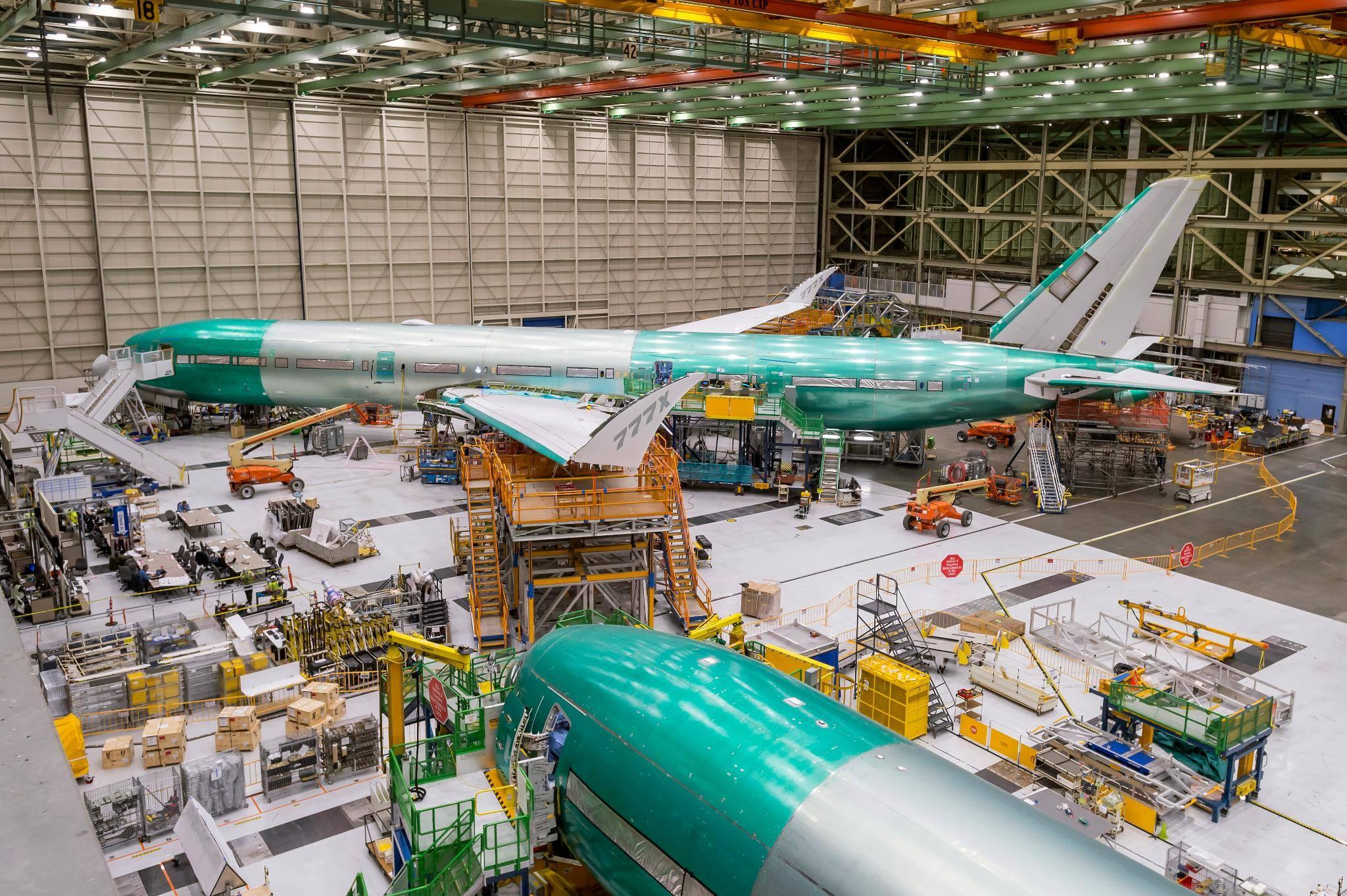 assemblage du 1er Boeing 777x