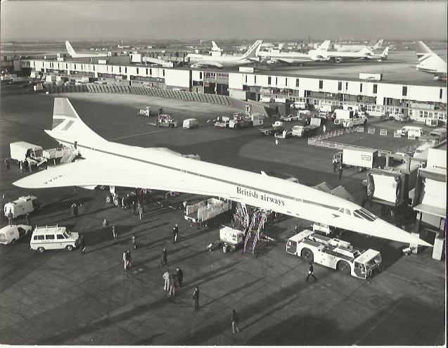 1er vol Concorde G-BOAA 21/01/1976 LHR - BAH