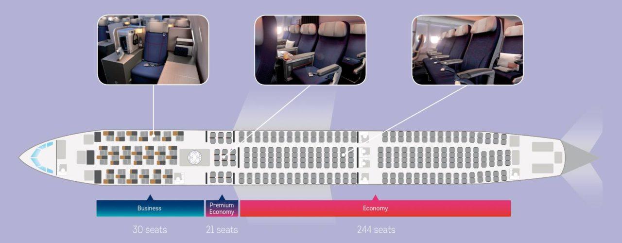 Aménagement cabine A330-300 Brussels Airlines