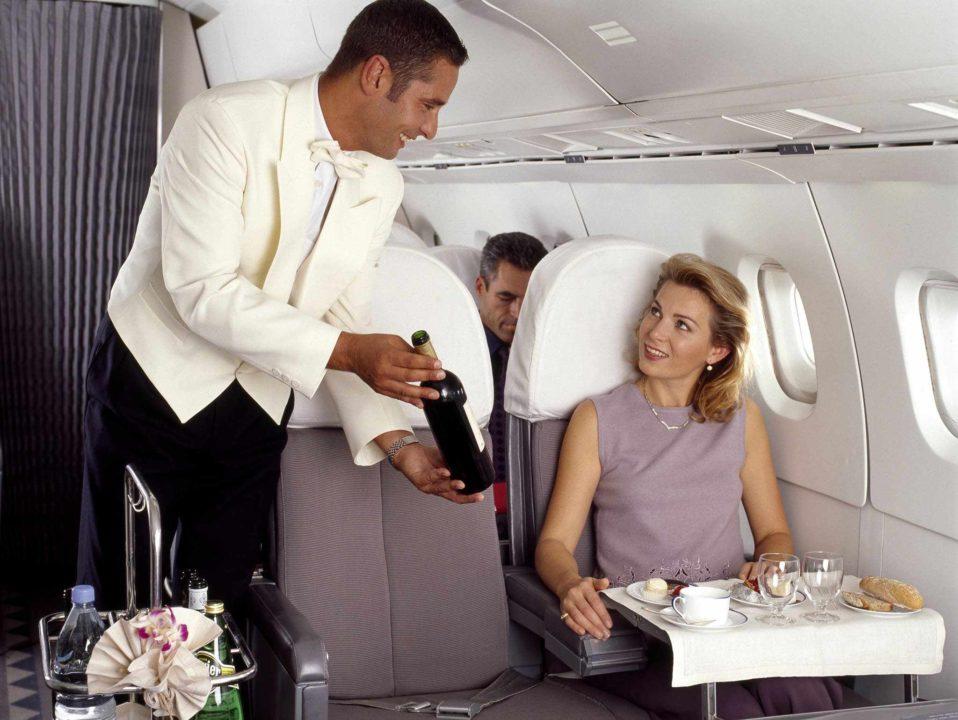 Service Air France à bord du Concorde