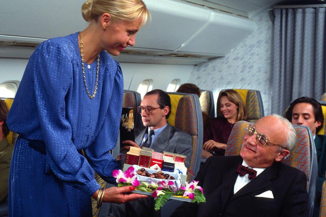 Chocolats et cigarettes offerts à bord du Concorde