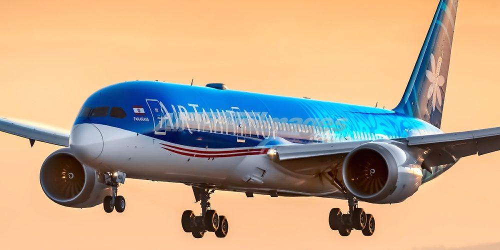 Boeing 787 Air Tahiti Nui F-OMUA 1er posé à CDG