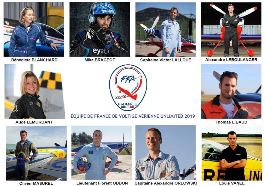 L'équipe de France de Voltige 2019
