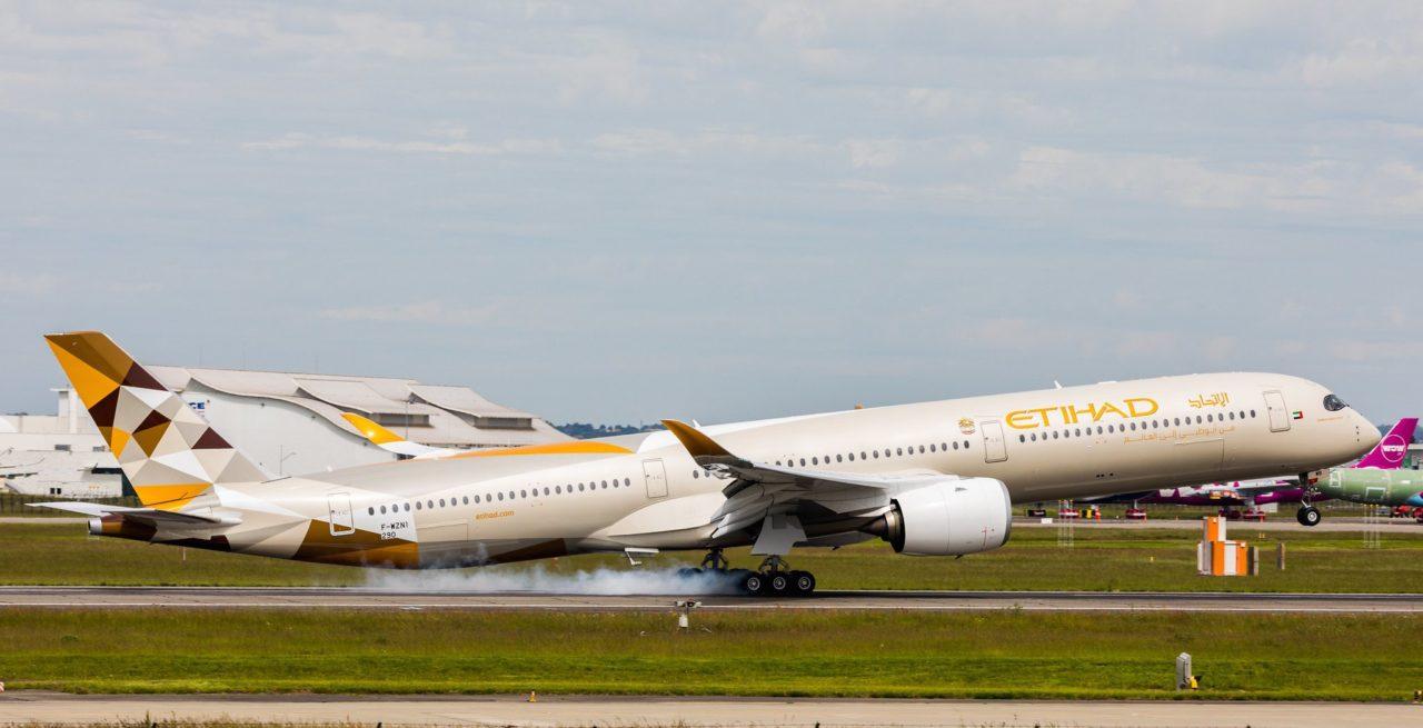 Airbus A350-1041 Etihad Airways cn 290 F-WZNI / A6-XWB