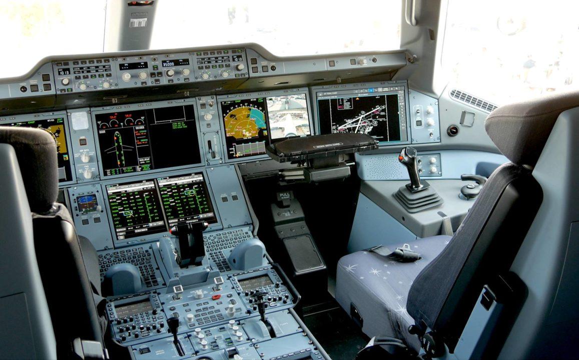 Cockpit de l'A350-1000