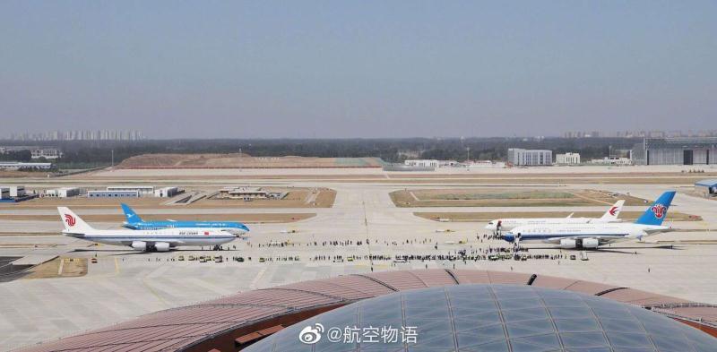 Gros-porteurs sur le tarmac de Beijing Daxing Airport