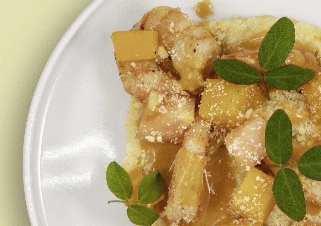Risotto de crevettes, sauce crustacés au Giromon