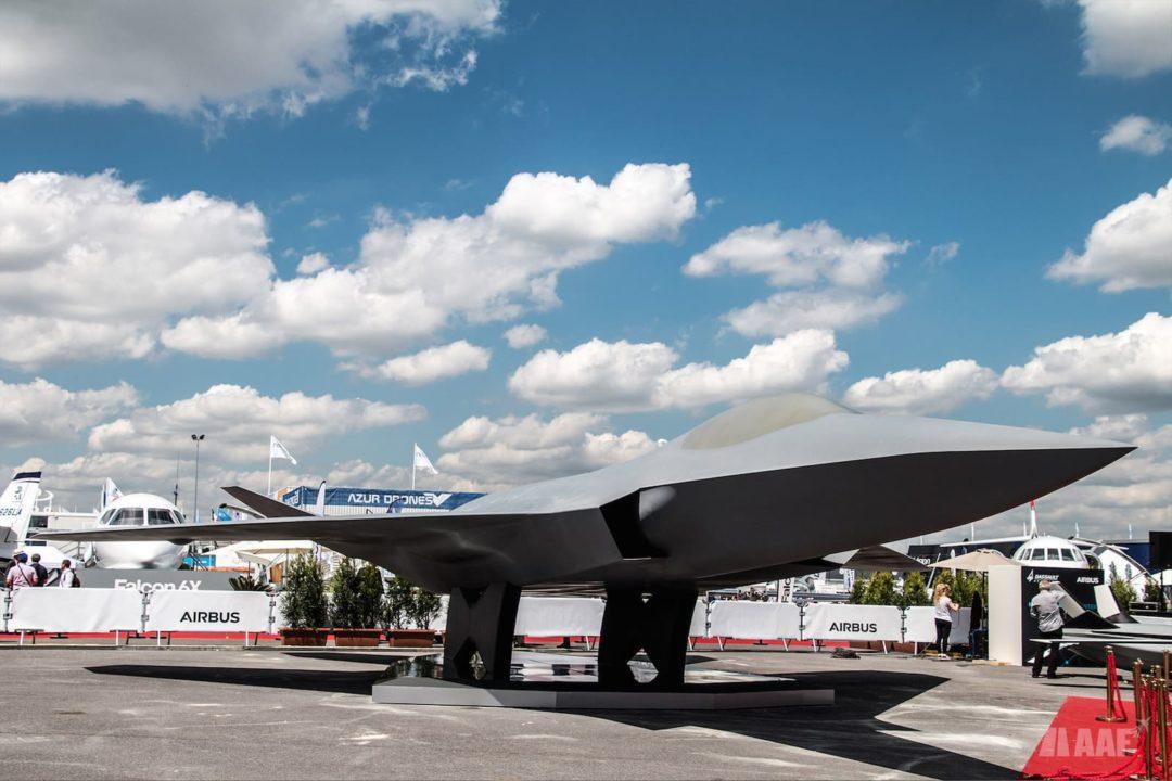 Maquette du futur avion de combat européen NGF (Next Generation Fighter) présentée au Bourget 2019