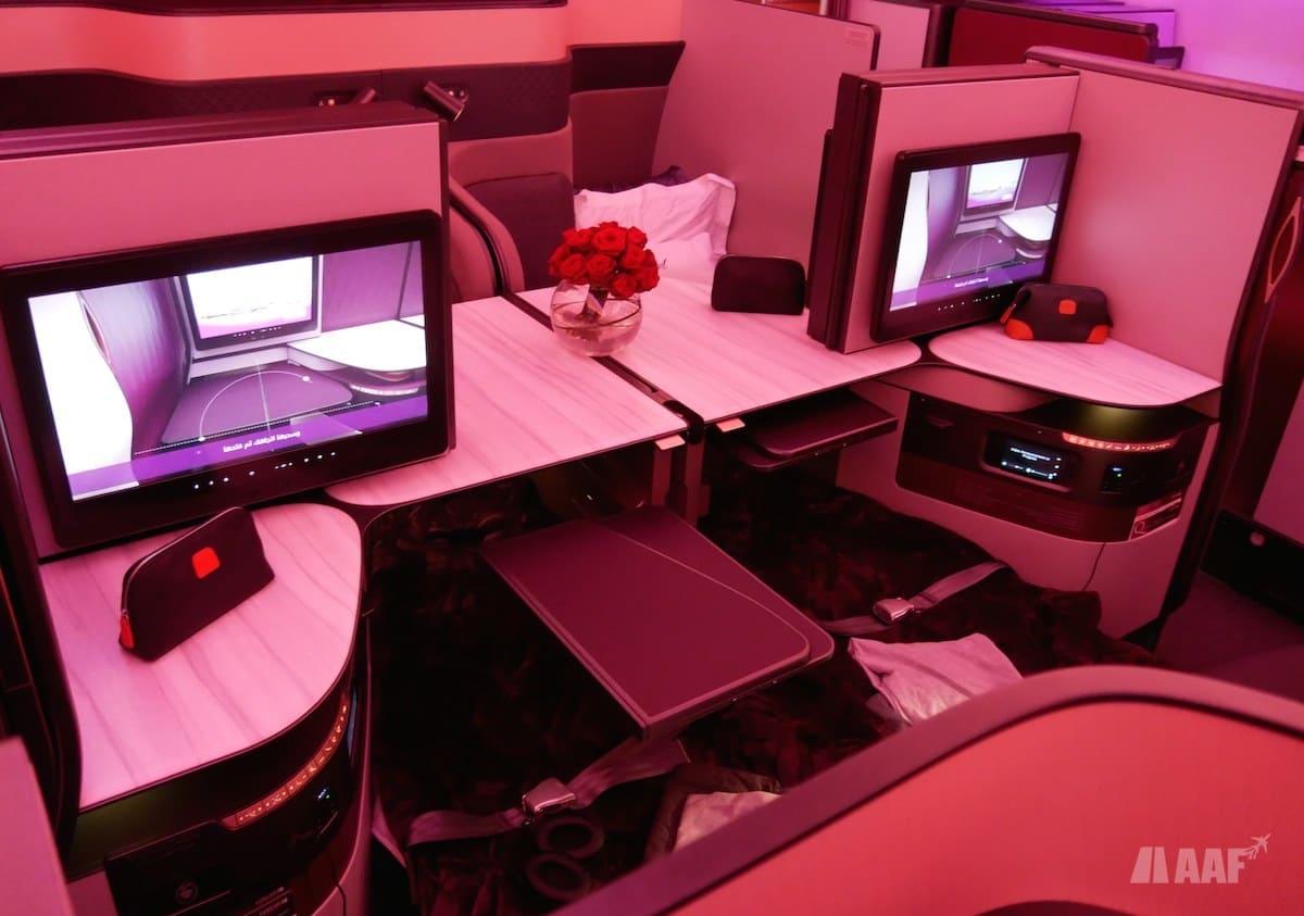 Cabine Business Qatar Airways A350