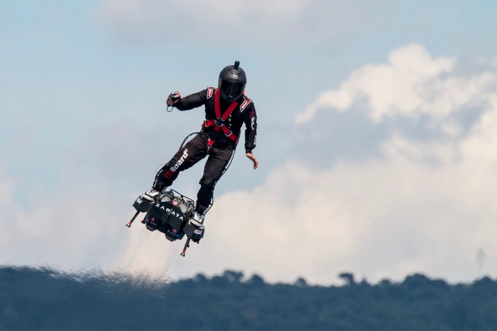 Franky Zapata sur son Flyboard