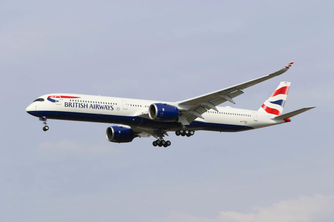 1er atterrissage de l'A350- 1000 British Airways s/n 326 G-XWBA