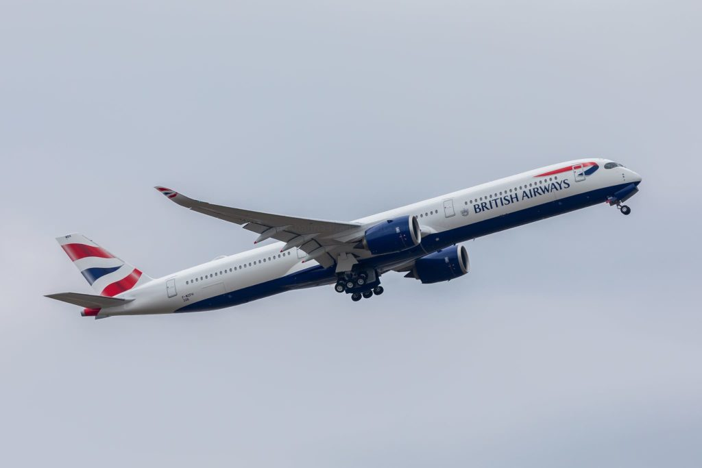 1er décollage de l'A350- 1000 British Airways s/n 326 G-XWBA