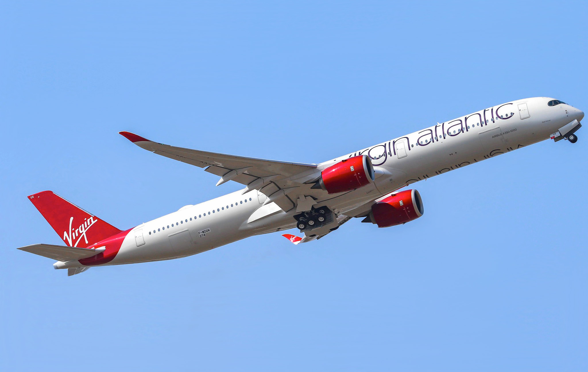 1er Airbus A350-1000 Virgin Atlantic [MSN 274 / G-VLUX]
