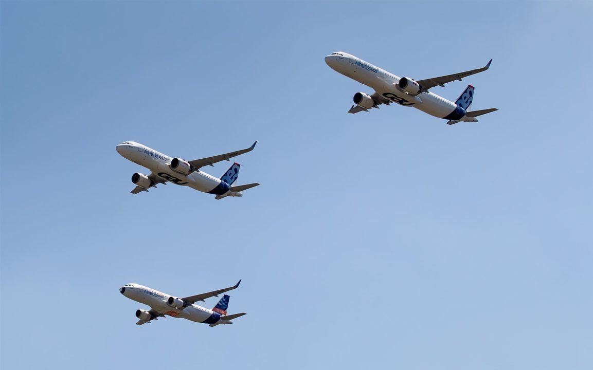 Dernier vol du 1er A320 en formation avec un A320neo et un A321neo