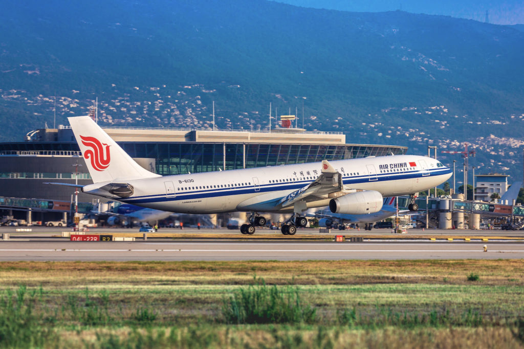 Air China se pose à Nice