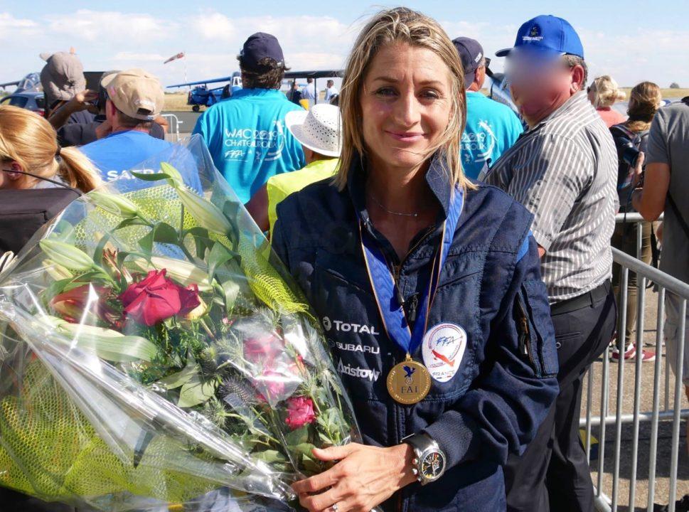 Aude Lemordant qui remporte son 3e titre mondial