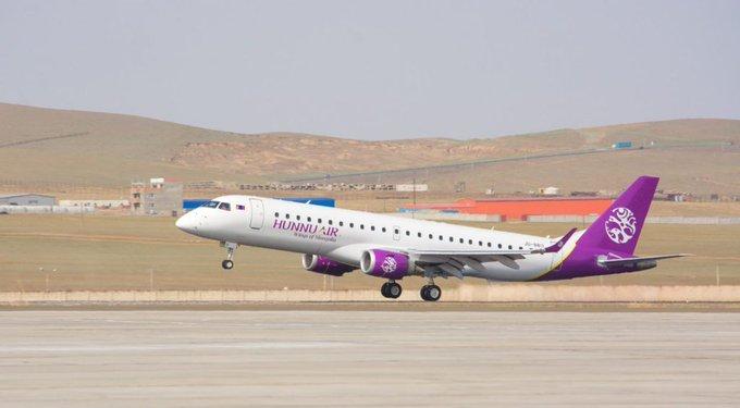 Hunnu Air Embraer E190