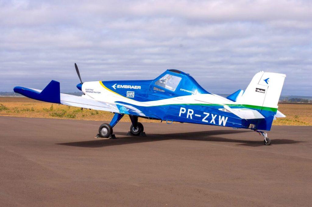 Démonstrateur d'avion léger à propulsion 100% électrique à partir de la cellule d'un EMB 202 Ipanema