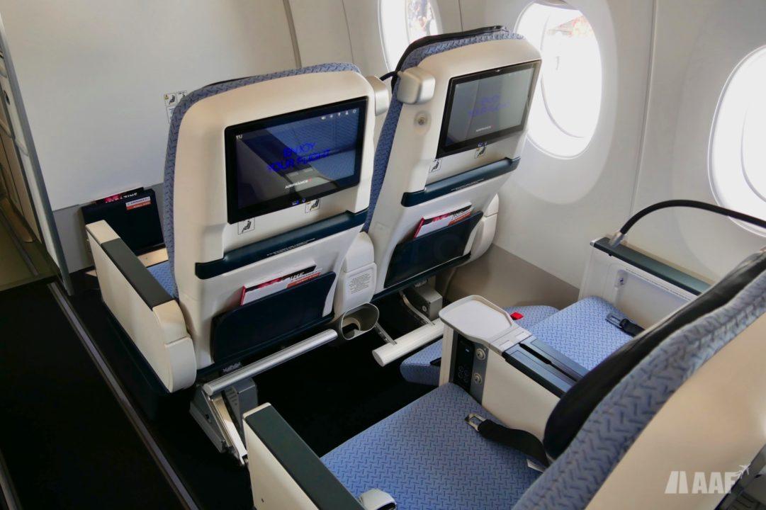 Sièges Premium Eco A350 Air France [F-HTYA / MSN331 / F-WZFN] © AAF - reproduction interdite