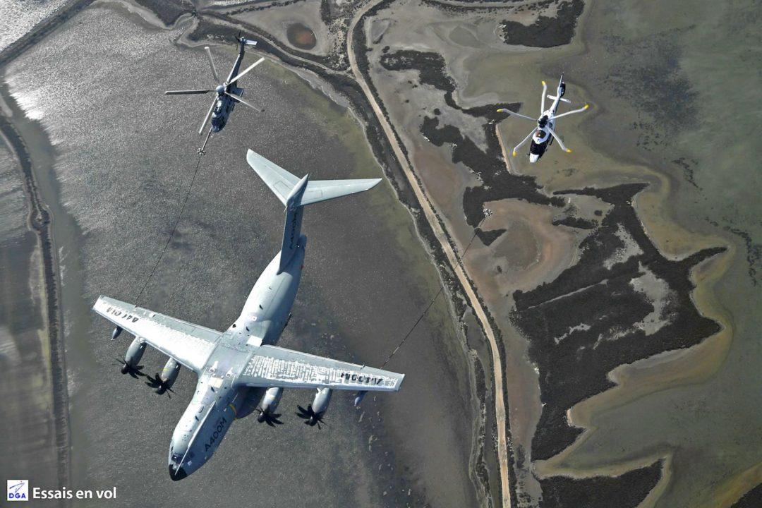 Un H225H et un H160 avec l'A40OM