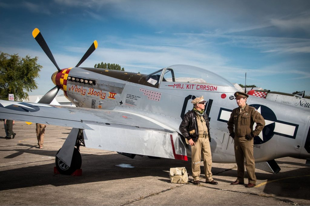 US Air Force avec le North américan P51D Mustang