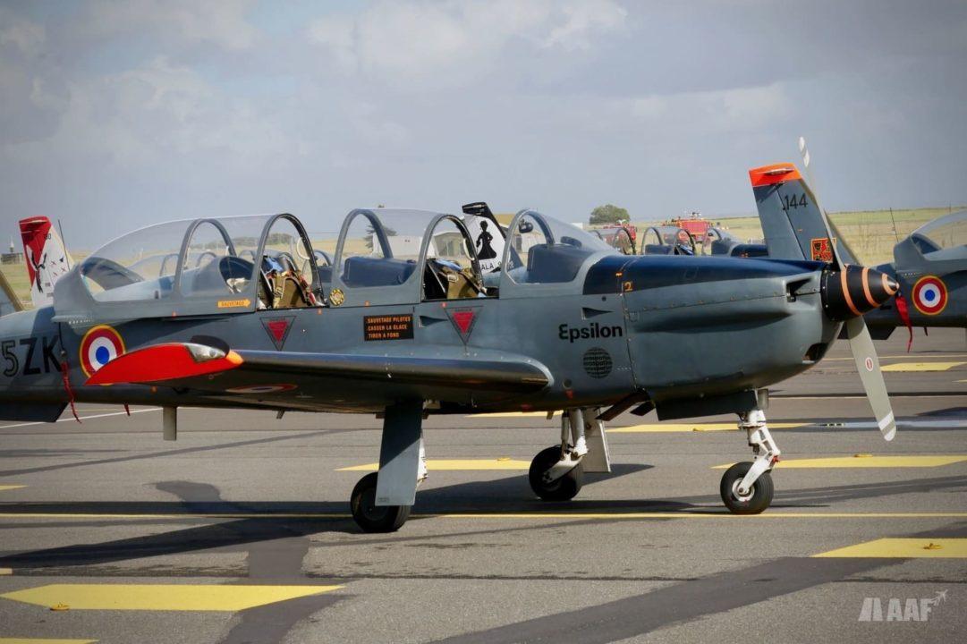 TB-30 Epsilon de retour du dernier vol à Cognac