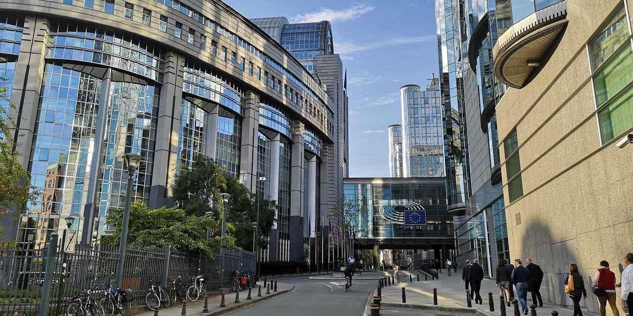 Vue du parlement européen à Bruxelles