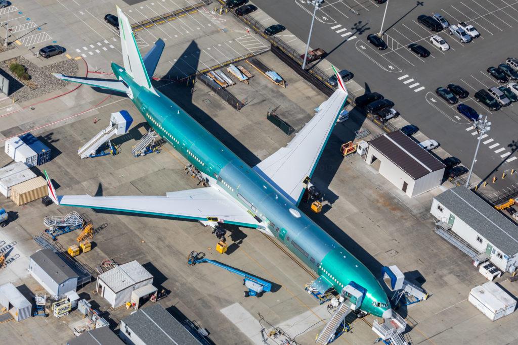 1er Boeing 777x d'Emirates en cours d'assemblage
