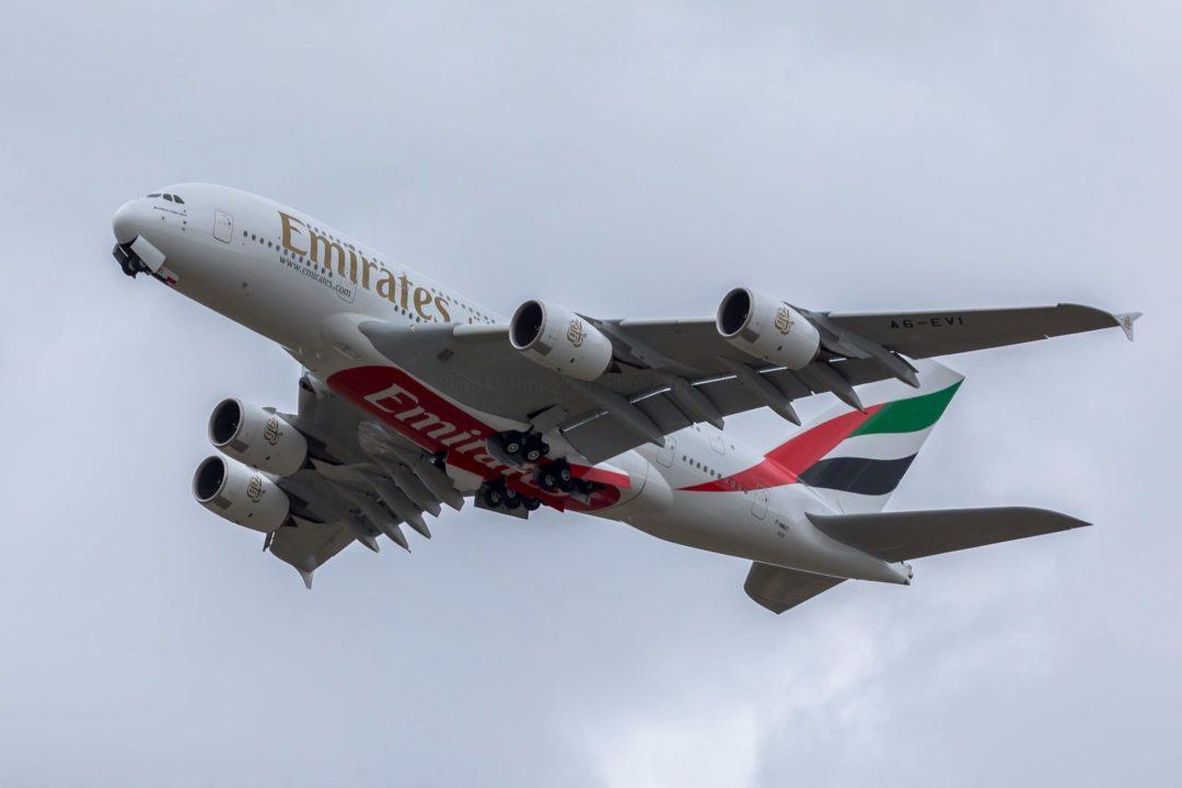 Airbus A380 Emirates [MSN258 / A6-EVI / F-WWST] à Toulouse le 2 octobre 2019