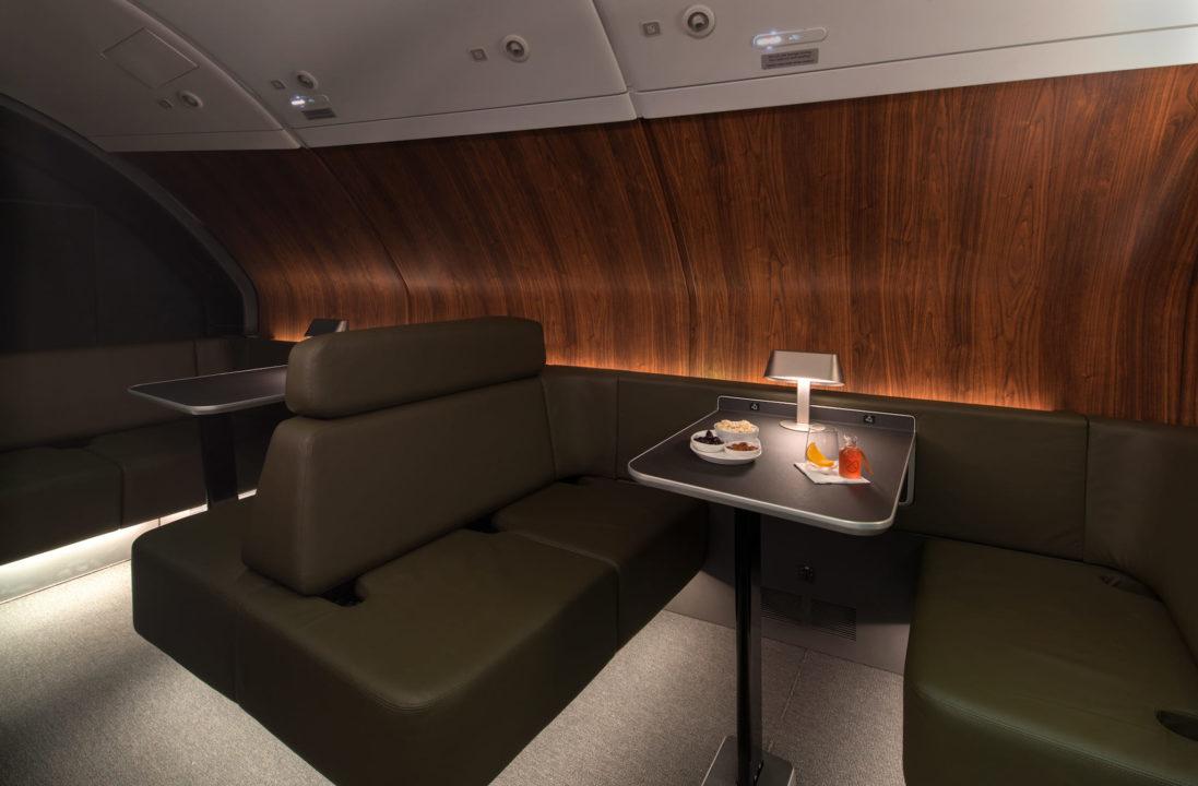 Nouveau salon-lounge de l'A380 Qantas
