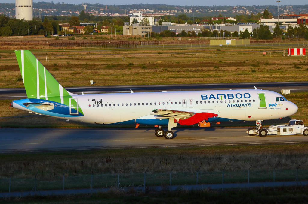 F-WWIU Airbus A320 Neo Bamboo Airways Airbus A320-251N Bamboo Airways s/n 9306 VN-A596