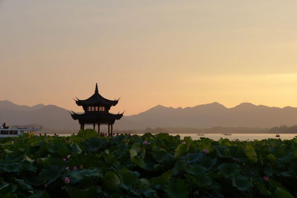 Couché de soleil en Chine