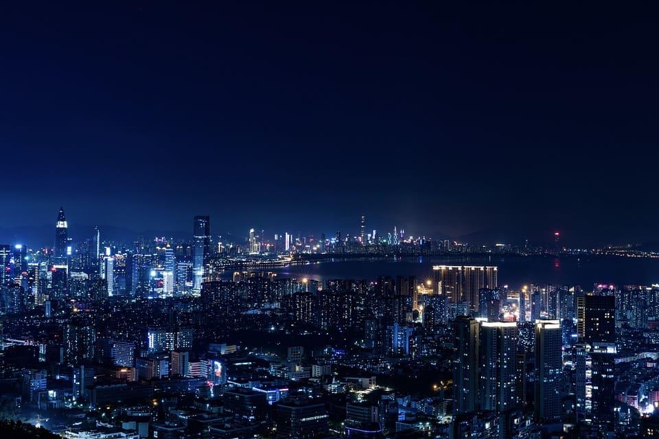 Shenzhen, dans la province du Guangdong et Chongqing, en Chine