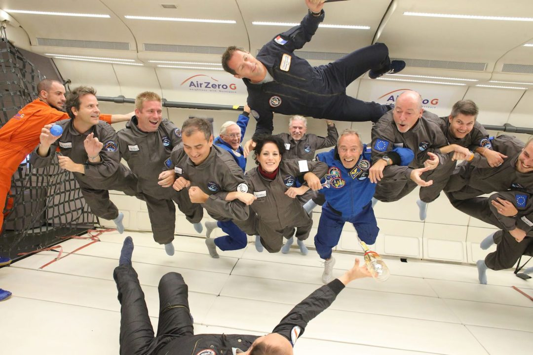 Photo du vol des 30 ans du ZERO-G