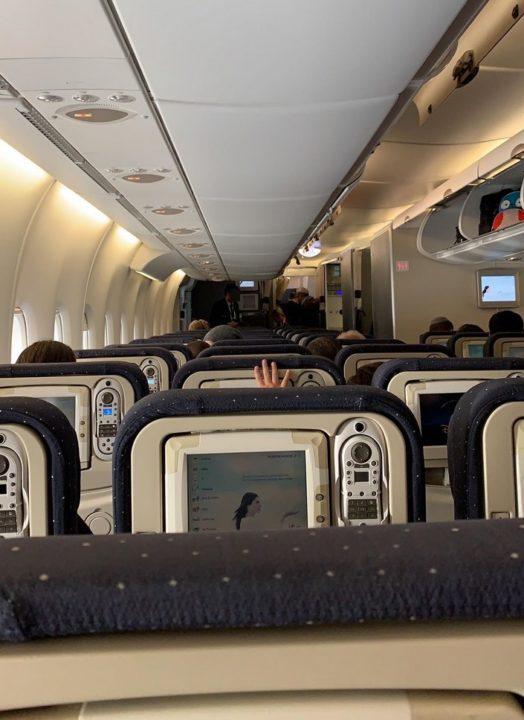 Sièges et IFE de la cabine Eco dans l'A380 Air France
