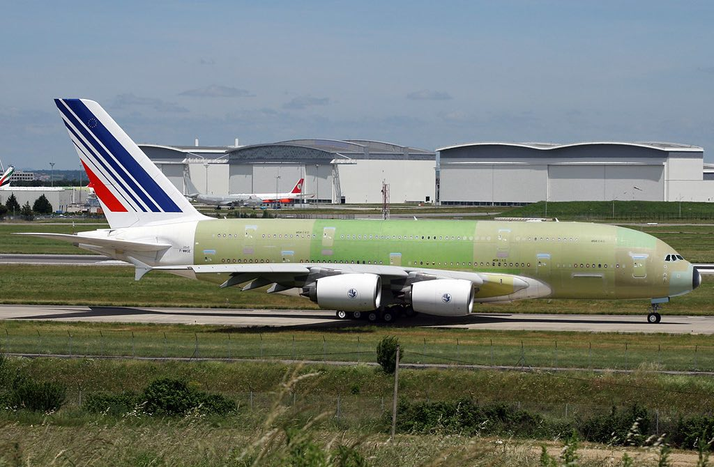 Air France A380 F-HPJB MSN40 à Toulouse avant sa livraison