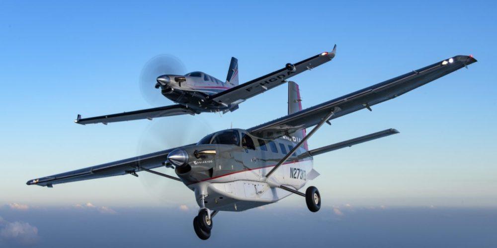 TMB et Kodiak en vol
