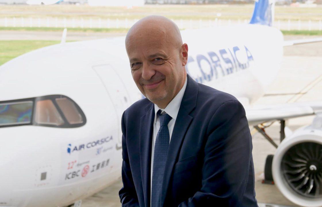 Luc Bereni, président du directoire Air Corsica devant « I SANGUINARI »