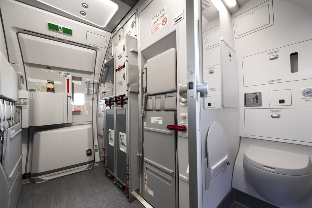 Galley de l'A320neo Air Corsica avec l'option « Cabine Flex V2 »