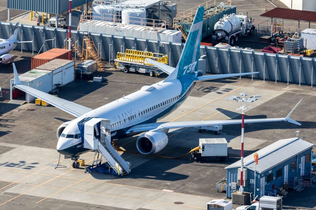 Boeing 737 MAX 7 à Boeing Field