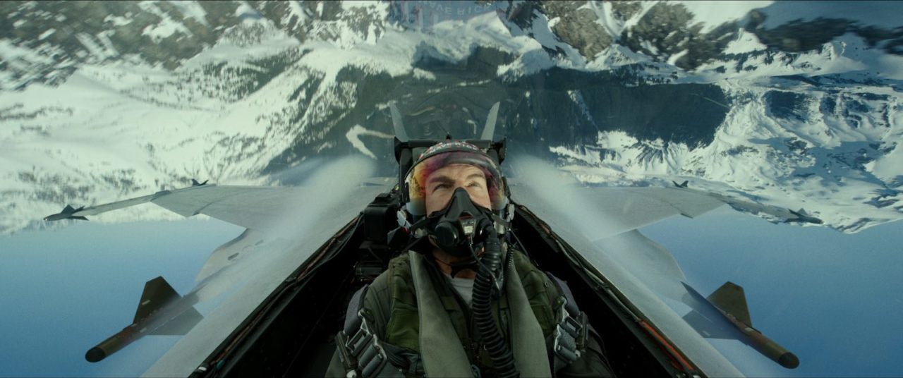 Tom Cruise, alias Maverik aux commandes d'un F/A-18 Hornet