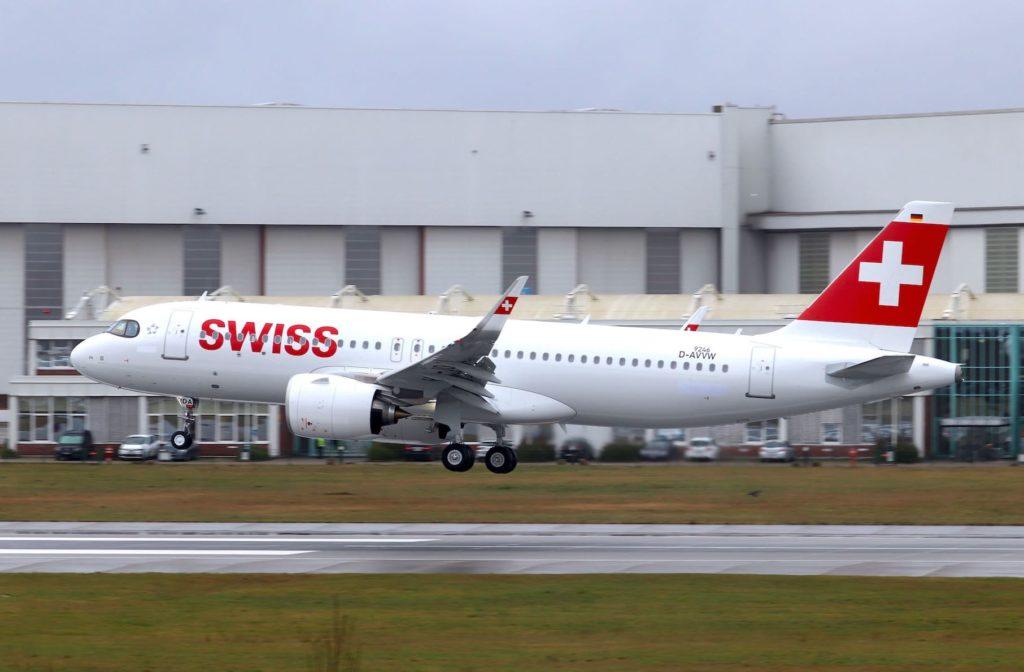 1er A320neo SWISS / MSN 9246 / HB-JDA à Hambourg
