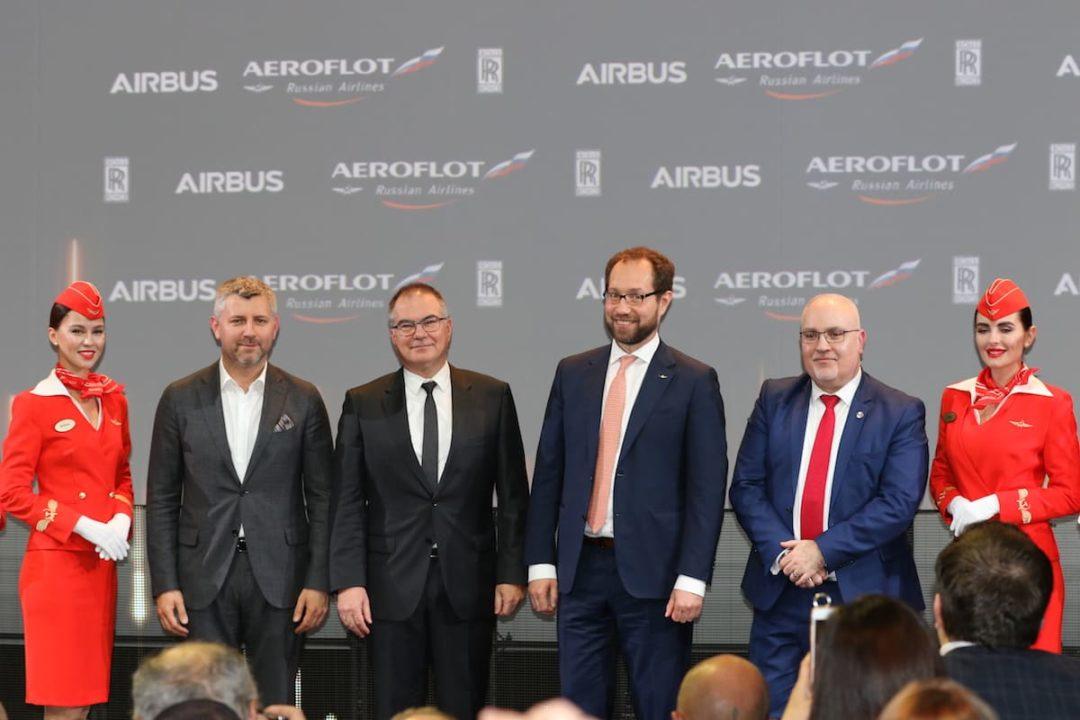 Cérémonie de livraison du 1er A350-900 Aeroflot