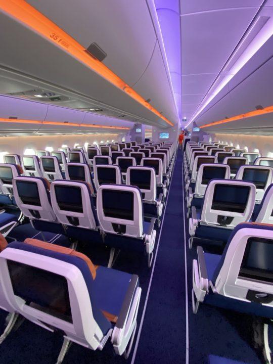 Cabine Eco de l'A350-900 Aeroflot