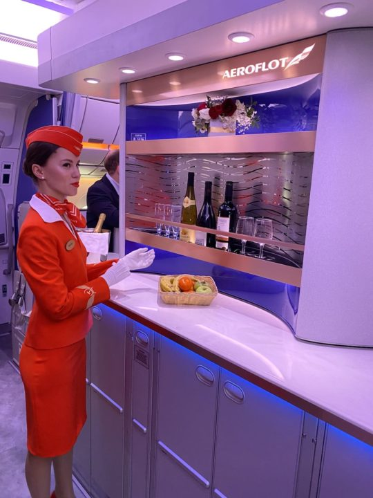 Bar Business dans l'A350-900 Aeroflot