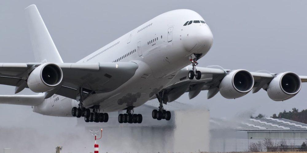Dernier décollage à Dresde pour l'A380 Air France F-HPJB MSN40