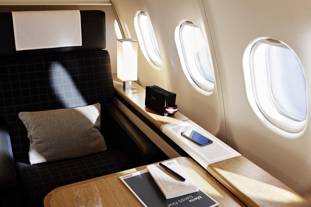 Nouvelle cabine Première Classe A340-300 SWISS
